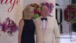 Charlène et Albert II de Monaco au 66e gala de la Croix-Rouge monégasque.