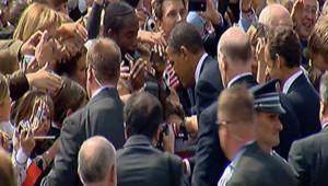 Obama Sarkozy Foule