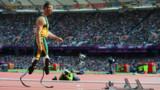 JO-2012 - Au 400 m, Oscar Pistorius, amputé des deux jambes, éliminé en demies