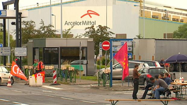 L'usine Arcelor-Mittal de Florange (Moselle) bloquée par les syndicats le 27 juin 2012.