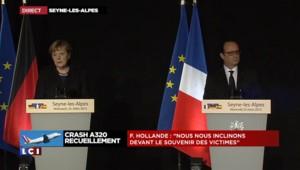 """Crash dans les Alpes : """"Nous sommes devant une véritable catastrophe"""" reconnaît Merkel"""