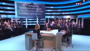 Joute verbale sur TF1 entre Hollande et Karine, chef d'entreprise