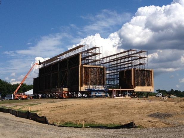La construction de l'Arche de Noé du film Noah de Darren Aronofsky
