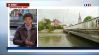 Le 20 heures du 10 mai 2013 : Inondations dans l%u2019Aube :  Une crue sournoise et prcupante  pour le prt - 894.465