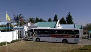 Le bus des Bleus, après leur refus de s'entraîner le 20 juin 2010