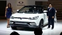 Méconnu en France, Ssangyong a tenu à montrer deux concepts-cars lors du Mondial de l'Auto, dont ce XIV-Air.