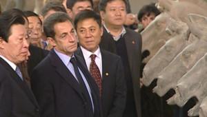 Nicolas Sarkozy en visite d'Etat en Chine (25 novembre 2007)