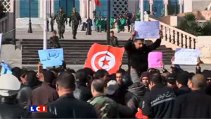 Tunisie: des centaines de manifestants dans les rue de Tunis