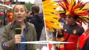 Euro 2016 : ambiance conviviale à Lille en attendant le match Belgique – Pays de Galles