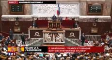 """Felipe VI à l'Assemblée : """"France et Espagne sont des partenaires solides"""", déclare Bartolone"""