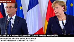 François Hollande et Angela Merkel le 22 septembre 2012.