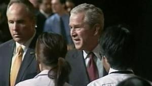 George W Bush à Bangkok en Thaïlande le 7 août 2008