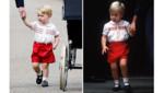 Baptême de la princesse Charlotte 5 juillet 2015: le prince George portait une tenue semblable à celle de son père William lorsqu'il a rencontré Harry en septembre 1984