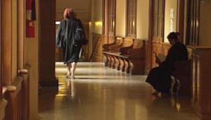 Magistrat dans le couloir d'un tribunal (archives)