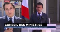 Avant les vacances du gouvernement, Valls rappelle les grands rendez-vous de la rentrée