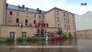 Intempéries: évacuation à la tyrolienne à Montargis