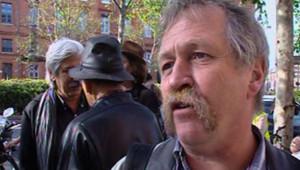 José Bové, à l'ouverture de son procès à Toulouse, le 5 juin 2008, où il est poursuivi pour voir fauché du maïs Mon 810 en 2006.