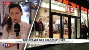 Soldes d'hiver : à Paris, première matinée calme dans les magasins
