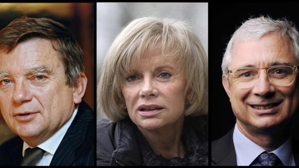 Claude Bartolone, Elisabeth Guigou et Jean Glavany.