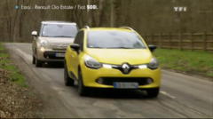 Essai Automoto FIAT 500L Renault Clio Estate 2013