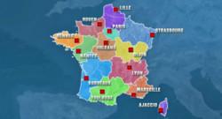 La liste (provisoire) des capitales des 13 futures régions