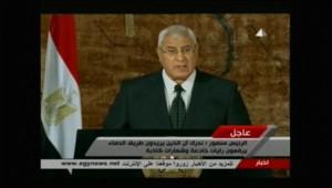 Le président égyptien par intérim, Adly Mansour.