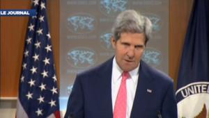 Le secrétaire d'Etat américain John Kerry lors d'une allocution sur la Syrie, le 26 août 2013.