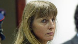Michelle Martin en 2004 lors du procès de son époux et complice Marc Dutroux.