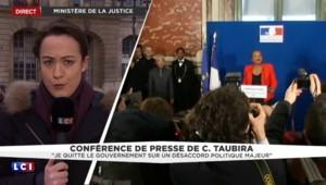 """Discours de Christiane Taubira : elle """"est arrivée détendue, sourire aux lèvres"""""""