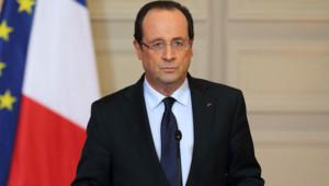 François Hollande le 11 janvier 2013 à l'Elysée