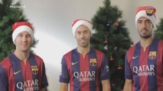 """Messi et Suarez vous souhaitent """"Joyeux Noël"""" !"""