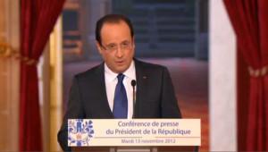 """Hollande : """"j'ai fait mes choix sans avoir besoin de prendre je ne sais quel virage"""""""