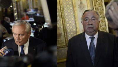 Jean-Pierre Raffarin et Gérard Larcher