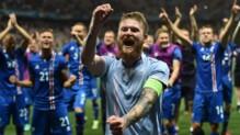 Les Islandais fêtent leur qualification pour les quarts de finale de l'Euro 2016.