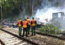 Un poids lourd s'est renversé sur la voie du RER B à Massy-Palaiseau.