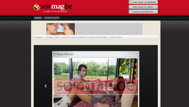 Capture d'écran du site internet du Soir, le 26 juillet à 12h50.