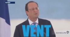 """Dans une vidéo décalée diffusée sur internet, François Hollande chante """"Vive le vent""""."""