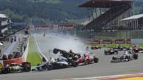 F1 Grand Prix de Belgique 2012 - 01 - Crash départ
