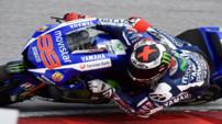 L'Espagnol Jorge Lorenzo au guidon de sa nouvelle Yamaha lors des premiers essais hivernaux précédant la saison 2015 de MotoGP.