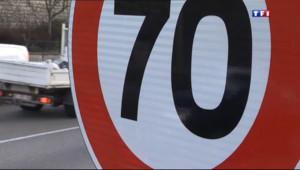 Le 20 heures du 10 janvier 2014 : La vitesse sur le p�ph�que est pass�de 80 �0 km/h - 535.206