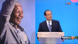 """Le 20 heures du 6 décembre 2013 : Mort de Nelson Mandela : """"Il a chang�e cours du monde"""", dit Hollande - 992.505117401123"""