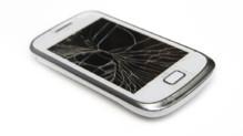 portable cassé smartphone téléphone mobile