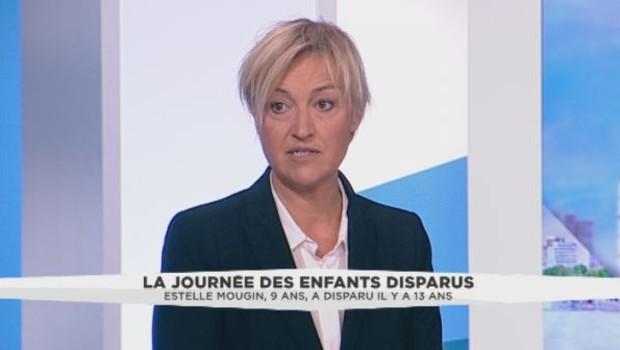 """Présidente de l'association """"Estelle"""" sur le plateau de LCI."""