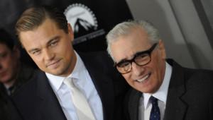 """Leonardo DiCaprio et Martin Scorsese à la projection de """"Shutter Island"""" à New York en 2010"""
