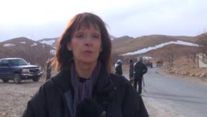 Patricia Allémonière, grand reporter à TF1, en Syrie.