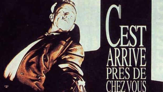 Une partie de l'affiche du film C'est arrivé près de chez vous de Rémy Belvaux