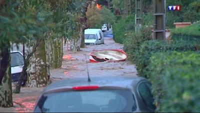 Inondation à La Londe-les-Maures, le 27 novembre 2014