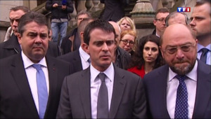 """Le 13 heures du 14 avril 2014 : Valls : """"Nous en appelons au dialogue et au respect des r�es internationales"""" - 722.5131231689455"""