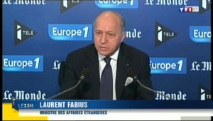 """Le 13 heures du 6 octobre 2013 : Fabius sur le naufrage de Lampedusa : l%u2019UE doit """"traduire son indignation en actes"""" - 247.70021154785155"""