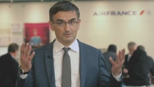 Le DRH agressé apparaît dans le clip promotionnel d'Air France.